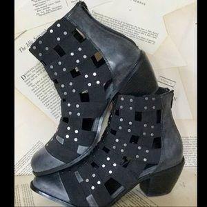 Free People Vegan Elastic Strap Cut Out Studded 9